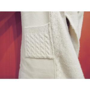 イタリア ロングニットカーディガン レディース コーディガン ホワイト ビッグカラー ロング丈 9号 11号 白 ゆったり アウター 通販|classica|07