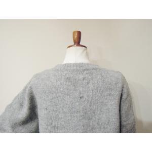 フランス ハート刺繍ニットセーター レディース グレー 灰色 ゆったり 9号 11号 通販 おしゃれ 女性用 海外 ブランド ウール シンプル classica 06