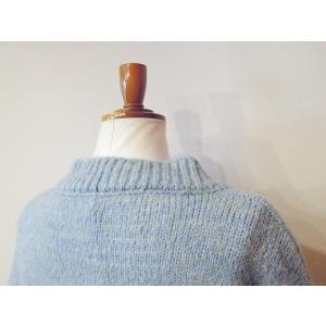 イタリア オーバーサイズミックスニット レディース セーター 長袖 11号 L 水色 ブルー ざっくり 通販 おしゃれ シンプル ゆったり 婦人 classica 07