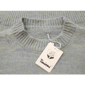 イタリア オーバーサイズミックスニット レディース セーター 長袖 11号 L 水色 ブルー ざっくり 通販 おしゃれ シンプル ゆったり 婦人 classica 08