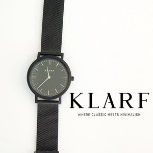 KLARF/クラーフ ブラックメッシュウォッチ 腕時計 レディース メンズ 時計 黒 人気 ブランド 通販 クオーツ 電池式 生活防水 ステンレス 箱付き classica