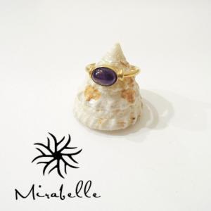 Mirabelleミラベル/アメジスト付き22kリング 指輪 レディース 13号 ゴールド 金 カラーストーン おしゃれ 通販 ジュエリー ブランド|classica