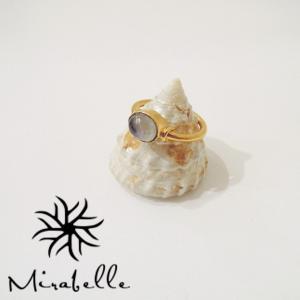 Mirabelle/ミラベル ラブラドライト付きリング 指輪 レディース 9号 ゴールド 金鍍金 カラーストーン おしゃれ 通販 豪華 ブランド|classica