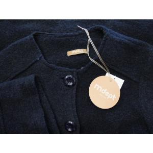 イタリア製 ノーカラー圧縮ウールショート丈コート レディース ジャケット アウター 9号 11号 ネイビー 紺 通販 おしゃれ 女性用 婦人|classica|08
