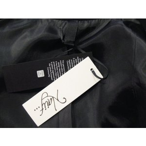 イタリア製 テーラードジャケット レディース ブラック 黒 11号 L ロング丈 八分袖 ギャザースリーブ ゆったり 通販 おしゃれ アウター|classica|08