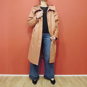 セール/イタリア ダブルジップスプリングコート レディース マウンテンパーカー ブラウン 茶 11号 L 通販 おしゃれ ゆったり ナイロン 婦人服|classica