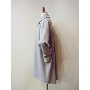 イタリア製 プルオーバーシャツチュニック レディース ビッグシャツ グレー 灰色 11号 9号 ゆったり 通販 おしゃれ 無地 海外 ブランド|classica|03