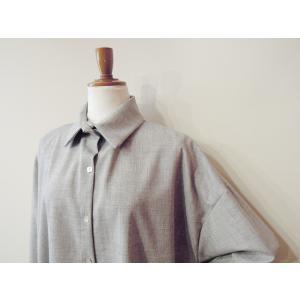 イタリア製 プルオーバーシャツチュニック レディース ビッグシャツ グレー 灰色 11号 9号 ゆったり 通販 おしゃれ 無地 海外 ブランド|classica|05