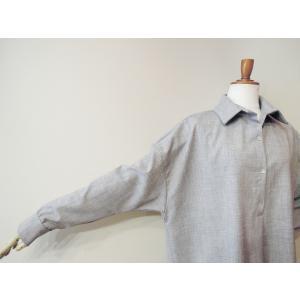 イタリア製 プルオーバーシャツチュニック レディース ビッグシャツ グレー 灰色 11号 9号 ゆったり 通販 おしゃれ 無地 海外 ブランド|classica|06