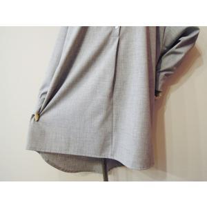 イタリア製 プルオーバーシャツチュニック レディース ビッグシャツ グレー 灰色 11号 9号 ゆったり 通販 おしゃれ 無地 海外 ブランド|classica|07