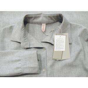 イタリア製 プルオーバーシャツチュニック レディース ビッグシャツ グレー 灰色 11号 9号 ゆったり 通販 おしゃれ 無地 海外 ブランド|classica|08