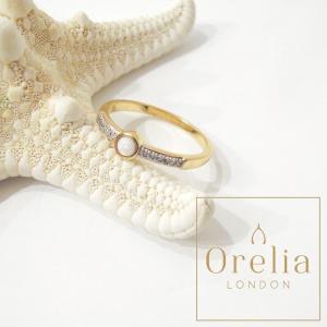 Orelia LONDON/オレリア オパール×ジルコニアゴールドリング 指輪 レディース 女性用 16号 通販 海外 ブランド おしゃれ プレゼント 贈り物|classica