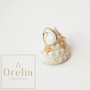 OreliaLondonオレリア/サークルデザインリング 指輪 レディース ゴールド 15号 18mm 女性 おしゃれ 通販 インポート 金 記念日 贈り物 定形外可|classica