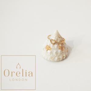 OreliaLondonオレリア/オープンハートデザインリング 指輪 ゴールド 9号 レディース 女性 インポート おしゃれ シンプル 安い ロンドン 金 プレゼント 定形外可|classica