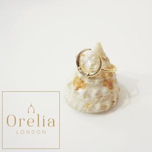 Orelia london オレリア ラインストーン付きリング 指輪 14号 レディース ゴールド アクセサリー 通販 おしゃれ 英国 婦人 プレゼント|classica