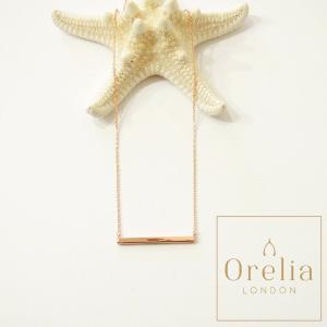 Orelia london オレリア 棒デザインチェーンネックレス ブロンズ レディース 婦人 通販 シンプル ベーシック プレゼント ローズゴールド|classica