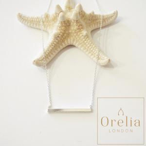 Orelia london オレリア 棒デザインチェーンネックレス ブロンズ レディース シルバー 婦人 通販 シンプル ベーシック プレゼント|classica
