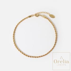 オレリア orelia ロープチェーンアンクレット レディース ゴールド アクセサリー おしゃれ 通販 シンプル 女性 プレゼント 贈り物|classica