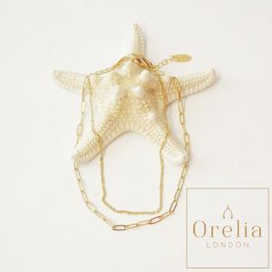 オレリア orelia 2連チェーンアンクレット レディース ゴールド アクセサリー 通販 おしゃれ シンプル プレゼント 贈り物 英国|classica