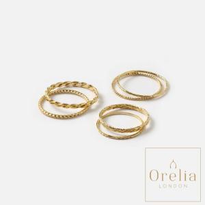 オレリア Orelia LONDON マルチリングセット指輪 レディース 女性 ゴールド 9号 16号 通販 おしゃれ アクセサリー 重ね付 プレゼント classica