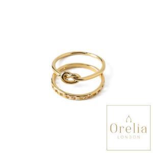オレリア Orelia LONDON リングセットM/L 指輪 レディース 女性 16号 ゴールド シンプル 通販 おしゃれ アクセサリー プレゼント classica