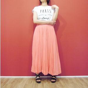 ロングスカート 春夏 ピンク コットン100% 綿 ウエストゴム マキシスカート フレア チュール レディース 11号 L 大きいサイズ 大きめ|classica