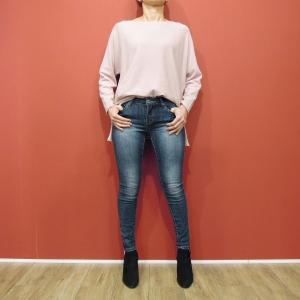 イタリア スキニ―デニムパンツ レディース ジーンズ 女性用 9号M ストレッチ コットン 通販 おしゃれ 海外 ブランド ブルー 定番 人気|classica