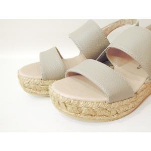 GAIMOガイモ/バックストラップサンダル ウェッジソール エスパドリーユ 37 23.5cm レディース グレー 本革 インポート 厚底 スペイン製 靴 送料無料|classica|05