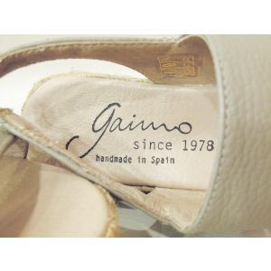 GAIMOガイモ/バックストラップサンダル ウェッジソール エスパドリーユ 37 23.5cm レディース グレー 本革 インポート 厚底 スペイン製 靴 送料無料 classica 06