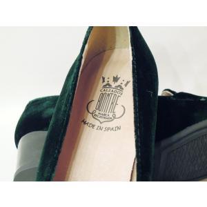 セール/BONTREボントレ ベロアチャンキーヒールローファーパンプス 39 24.5cm レディース ダークグリーン 深緑 ベルベット 上品 太ヒール スペイン製 きれいめ|classica|06
