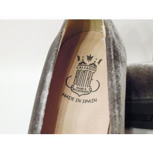 BONTREボントレ/ベロアチャンキーヒールローファーパンプス 37 23.5cm レディース 秋冬 グレーベージュ ベルベット 上品 太ヒール スペイン製 きれいめ|classica|06