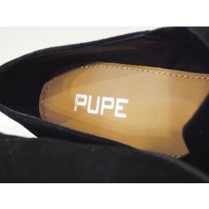 PUPE ポインテッドトゥサイドゴアブーティ39 24.5cm 黒 ブラック スエード 本革 春 チャンキーヒール おしゃれ 人気 レディース 婦人靴|classica|07