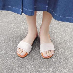 MARKO フラットレザーサンダル レディース 37 23.5cm 24cm シルバー 本革 ペタンコ 通販 おしゃれ ボスニア製 靴 大人 カジュアル|classica