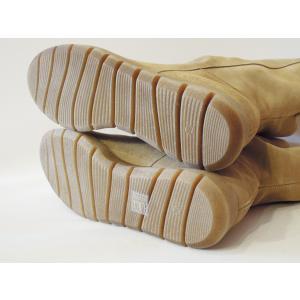 スペイン製 スエードレザーミドルブーツ レディース ベージュ 38 24.5cm 本革 ラウンドトゥ 通販 オシャレ 定番 スウェード 女性 classica 07