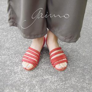 ガイモ gaimo バックストラップウェッジサンダル レディース 37 23.5cm 38 24cm レッド 赤 通販 おしゃれ ウェッジヒール 靴 婦人 ELVA|classica