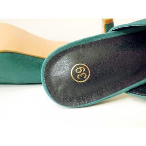 イタリア ポインテッドトゥミュール レディース グリーン 緑 39 24.5cm パンプス 春 夏 無地 通販 おしゃれ 大人 靴 classica 07