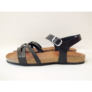 CALIDAD フラットサンダル レディース 37 23.5cm 黒 ブラック ペタンコ 通販 おしゃれ バックストラップ 合皮 婦人 女性 靴 classica 03