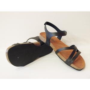 CALIDAD フラットサンダル レディース 37 23.5cm 黒 ブラック ペタンコ 通販 おしゃれ バックストラップ 合皮 婦人 女性 靴 classica 05