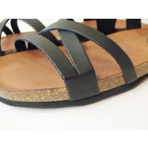 CALIDAD フラットサンダル レディース 37 23.5cm 黒 ブラック ペタンコ 通販 おしゃれ バックストラップ 合皮 婦人 女性 靴 classica 06