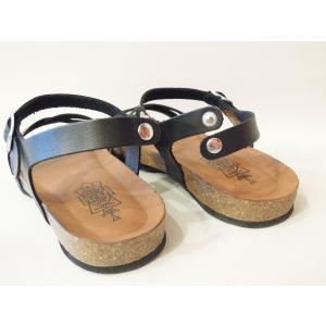 CALIDAD フラットサンダル レディース 37 23.5cm 黒 ブラック ペタンコ 通販 おしゃれ バックストラップ 合皮 婦人 女性 靴 classica 07