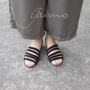 ガイモ gaimo バックストラップウェッジサンダル レディース 38 24cm 39 24.5cm ブラック 黒 通販 おしゃれ ウェッジヒール 靴 婦人 ELVA|classica