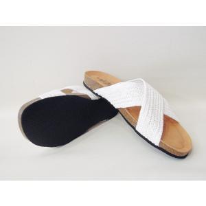 CALIDADカリダッド/スペイン製 クロスデザインフラットサンダル レディース 38 24cm 24.5cm ホワイト 白 ペタンコ オープントゥ 通販 靴|classica|05