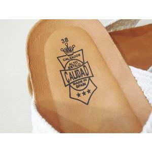 CALIDADカリダッド/スペイン製 クロスデザインフラットサンダル レディース 38 24cm 24.5cm ホワイト 白 ペタンコ オープントゥ 通販 靴|classica|07