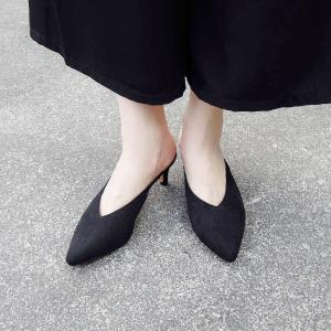 イタリア ポインテッドトゥミュール レディース 39 24.5cm 黒 ブラック パンプス 通販 おしゃれ ヒール 靴 女性用 春 夏 大人|classica
