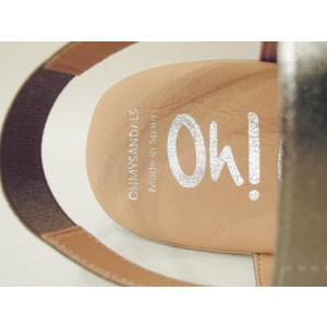 oh!mySandals ウェッジソールサンダル レディース 37 23.5cm ホワイト 白 ウェッジヒール 通販 おしゃれ 本革 レザー バックストラップ|classica|07