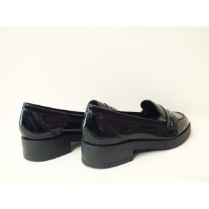 イタリア製 エナメル本革ローファー レディース 38 24cm 黒 ブラック フラットシューズ 靴 新品 通販 海外 ブランド 女性 おしゃれ Stilmoda|classica|04