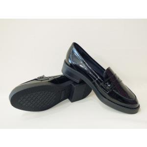 イタリア製 エナメル本革ローファー レディース 38 24cm 黒 ブラック フラットシューズ 靴 新品 通販 海外 ブランド 女性 おしゃれ Stilmoda|classica|05