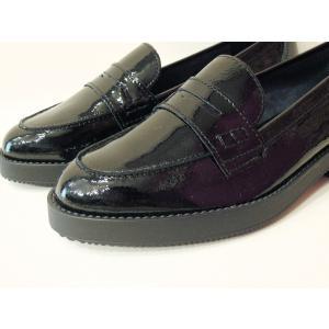 イタリア製 エナメル本革ローファー レディース 38 24cm 黒 ブラック フラットシューズ 靴 新品 通販 海外 ブランド 女性 おしゃれ Stilmoda|classica|06