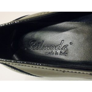 イタリア製 エナメル本革ローファー レディース 38 24cm 黒 ブラック フラットシューズ 靴 新品 通販 海外 ブランド 女性 おしゃれ Stilmoda|classica|07