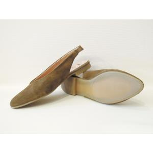 Lince バックストラップミュールサンダル レディース 37 23.5cm カーキ パンプス 靴 春 夏 スペイン製 通販 おしゃれ スエード|classica|04